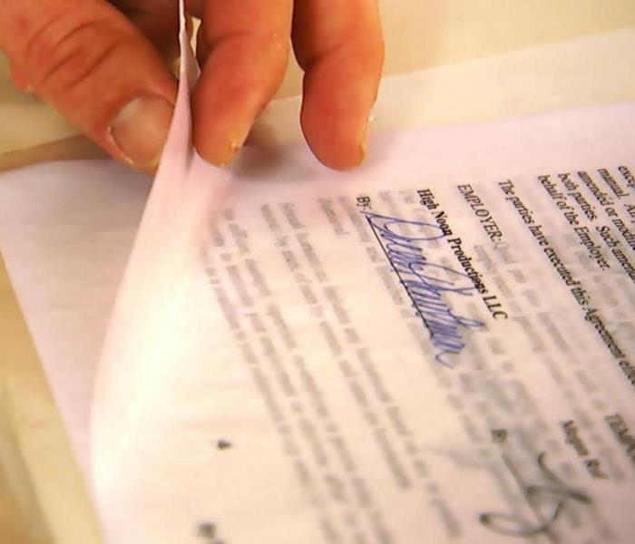 Document Restoration | SERVPRO of Gainesville